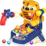 3 in 1 Whack A Mole Game Toddler Kids Toys,Tiger Target Shooting Toys Marble Game Interactive Educational Hammering Pounding Toy with Music Lights,Best Gift for 3 4 5 6 7 8 Year Old Boys and Girls