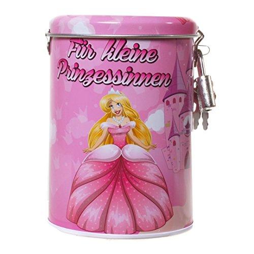 Hucha de metal, diseño de princesa, regalo para niña
