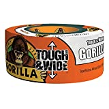 "Gorilla White Tough & Wide Duct Tape, 2.88"" x 25 yd, White, (Pack of 1)"