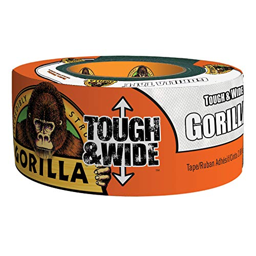 Gorilla White Tough & Wide Duct Tape, 2.88' x 25 yd, White, (Pack of 1)