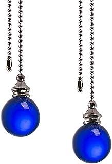 KungFu - Cadena de extensión con bola de cristal para lámpara de techo, cable para tirar de la manija de la persiana de 16.1 pulgadas para cadena de ventilador de techo, baño o inodoro