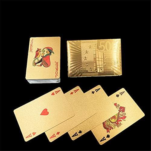 Creatieve speelkaarten waterdicht wasbaar PVC frosted verdikte poker goudfolie speelkaarten 54PCS Fun party Puzzle gamesC