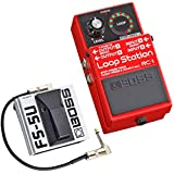 Boss RC-1 Loop Station - Pedal para loop + pedal FS-5U + cable de conexión keepdrum de 30 cm