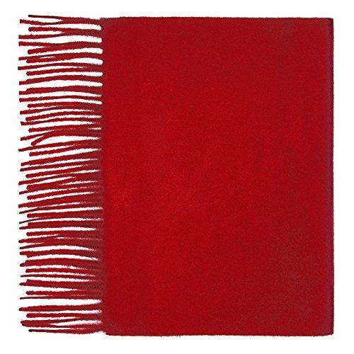Oxfords Cashmere 100% Kaschmirschal, Rot