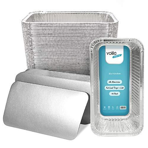 Bandejas desechables de papel de aluminio para envases de 0.9 kg para...