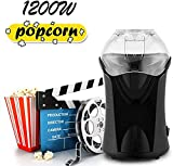 Best Hot Air Poppers - Hot Air Popcorn Maker, 1200W Fast Hot Air Review