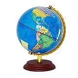 SuRose Globo, Globo de sobremesa Globo del Mundo Globos del Mundo LED Globo del Mundo Educativo con Soporte Juguete de Escritorio para niños Adultos Oficina Aula Decoración para el hogar Globo magl