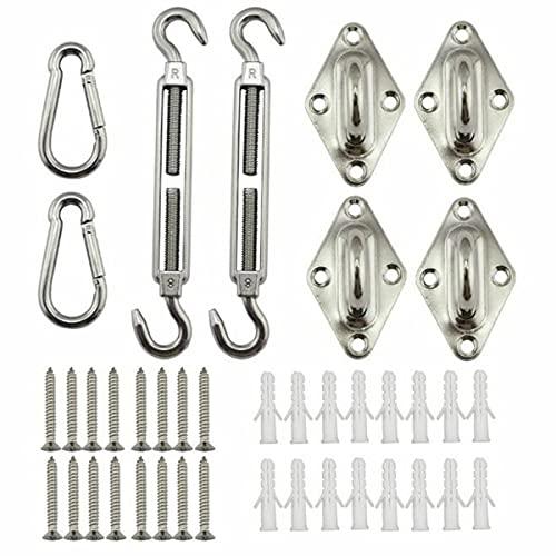 Nihlsen Tornillos tensores, ganchos a presión, soporte de pared, montaje de toldo