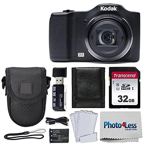 Kodak PIXPRO FZ152 Digital Camera + Black Point & Shoot Case + Transcend 32GB UHS-I U1 SD Memory Card & More!