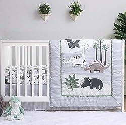 2. The Peanutshell Dinosaur Crib Bedding 3 Piece Set