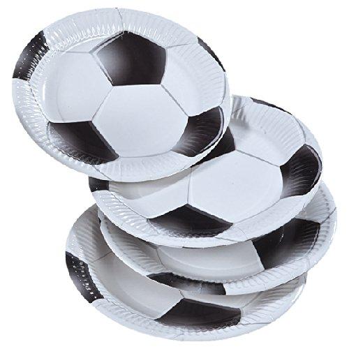 8 Teller * FUSSBALL * für Party und Geburtstag // Kinder Geburtstag Party Fete Set Jungen Pappteller Partyteller Plates Ball Fussball WM 2014