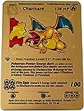 Charizard 1st Edition Base Set Pokémon Card - Custom Rainbow Metal Pokemon Card - Rare TCG Full Art Collectible Trading Card