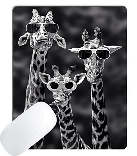 Wknoon Gaming Mouse Pad Custom, Funny Giraffe Wearing Sunglasses Design