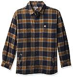 Carhartt Men's Rugged Flex Relaxed Fit Flannel Fleece-Lined Plaid Shirt, Navy, X-Large