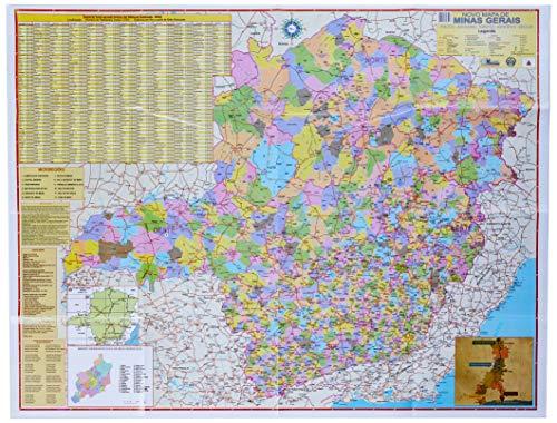 Mapa Escolar Estado de Minas Gerais x 1 Unidade, Multimapas 247, Multicor, Pacote de 1