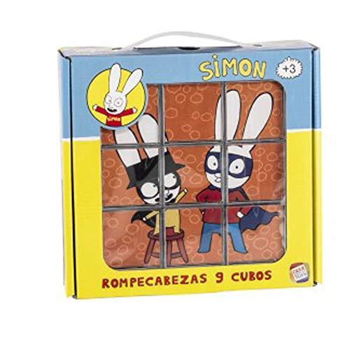 Cefa Toys Lapin Rompecabezas Simon DE 9 Cubos, Multicolor (88249)