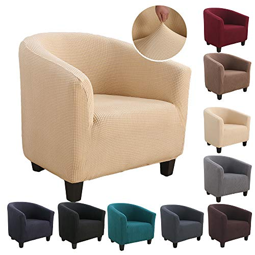 Souarts Capa para poltrona de sarja elástica estampada, capa protetora lavável, para sofá de bar, sala de estar, recepção