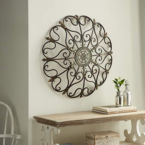 "Deco 79 50094 Metal Wall Decor, 29"" D"