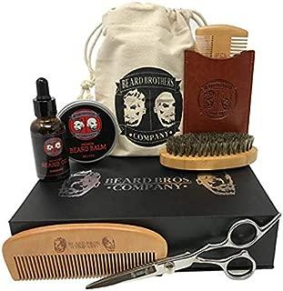 Premium Beard Grooming & Trimming Kit for Men Care - Beard Brush, Beard Comb, Beard Oil, Leave-in Conditioner, Mustache & Beard Balm Butter Wax, Barber Scissors for Styling, Shaping & Growth Gift Set