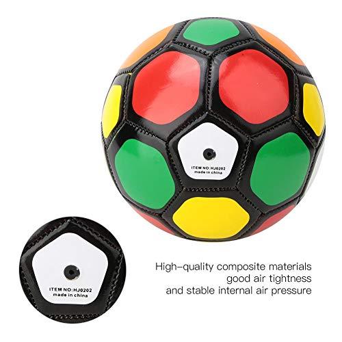 Alomejor Soccer Ball Toy Gift Netter Mini-Trainingsball für Babys und Kleinkinder Sicherer Sport für Anfänger und Kinder zum Spielen und Trainieren im Innen- und Außenbereich(Bunt)