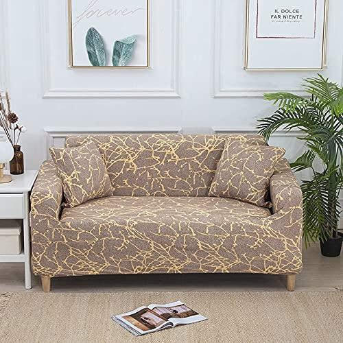 Funda de sofá elástica con impresión, sofá de Esquina, Fundas de sofá elásticas, Fundas de sofás Modernos nórdicos para Sala de Estar A3, 4 plazas
