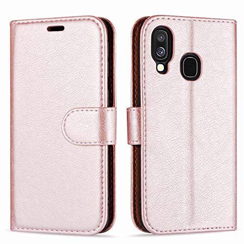 """Case Collection Custodia per Samsung Galaxy A40 Cover (5,9"""") a Libretto in Pelle di qualità Superiore con Slot per Carte di Credito per Samsung Galaxy A40 Custodia"""