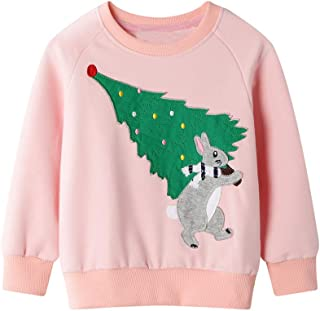 LATINDAY Boys Zip Hoodies for Girls Jumper Dinosaur Sweatshirt Wave Point Onesies Casual Toddler Clothes 1-7 Years