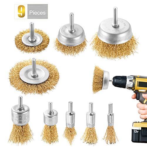 DazSpirit 9Pieces cepillo de alambre cepillo metalico para