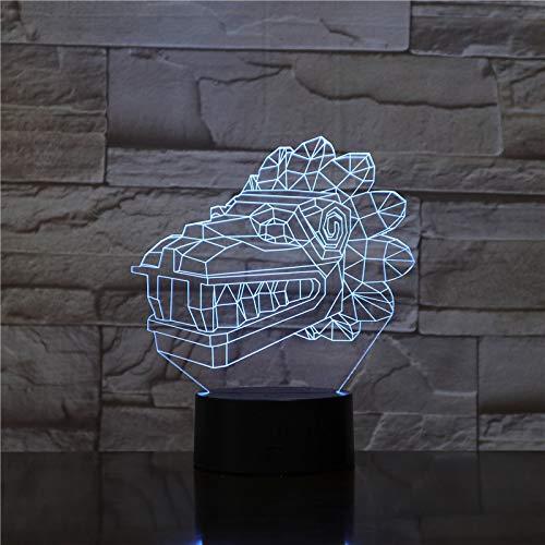 Crocodile Minions 3D-lamp bedlampje, nachtlampje voor de kinderkamer, led-lamp voor de woonkamer