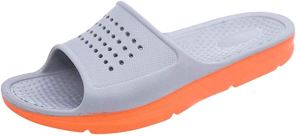 USYFAKGH Dress Sandals For men Comfy Flip Flops Men's Breathable Slippers Indoor Summer Non-Slip Soft-Soled Home Bathroom Shoes Gray