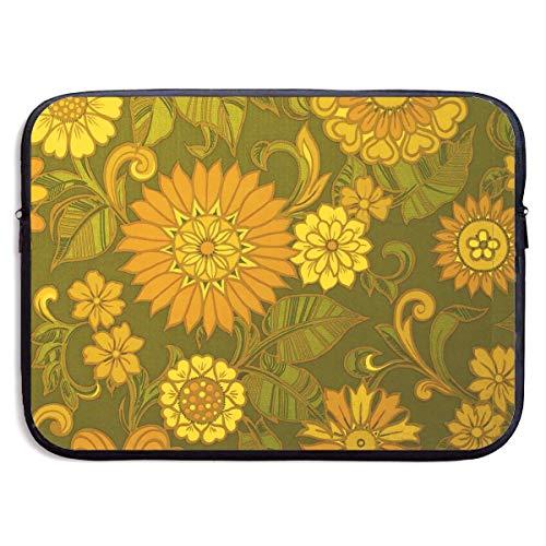 Fashion Computer Liner Sleeve Case Floral Designer Decorative Art Portable Laptop Protective Bag Cover Handbag for MacBook Pro/MacBook Air/Asus/Dell,13inch