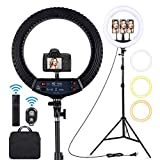 18 inch LED Ring Light with Tripod...