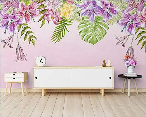 Personalidad personalizada Classic 3d Wallpaper Nordic Simple pintado a mano Planta Mosaico TV Fondo papeles de pared decoración del hogar 250×175cm