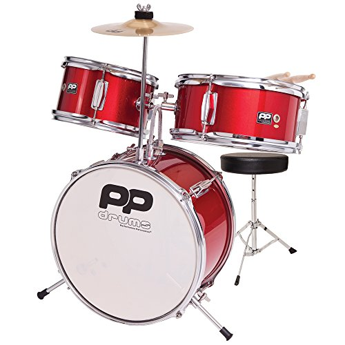 Performance Percussion PP101RD PP Drums Kinder Schlagzeug-Set (3 Stücke) rot-metallic