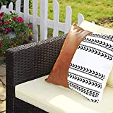 Gartenmöbel-Set 5-teilig aus Polyrattan handgeflochten Gartensofa Gartentisch mit Glasplatte - 3
