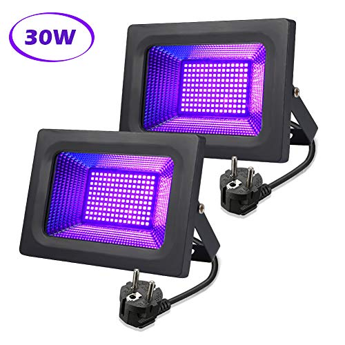 lunsy noire UV lunsy 30W UV Projecteur Projecteur à effet de