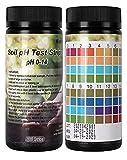 Soil pH Test Strips Kit, 100 Tests Soil pH Test kit for Testing Soil, Gardening, Pot Soil, Indoor or Outdoor Potted Gardens, Soil pH Tester Strips, 0-14 Range