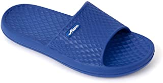 FUNKYMONKEY Mens Bathroom Shower Slippers Indoor Home Beach Non Slip Sandal (10 M US, Royal Blue)