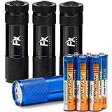 LED Taschenlampe 4er Set – Superhelle Mini Multifarbe Handlampe Pack Handlich Perfekte Lampe für...