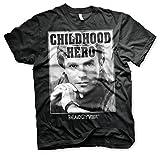 MacGyver Officiellement Marchandises sous Licence Childhood Hero T-Shirt (Noir), X-Large