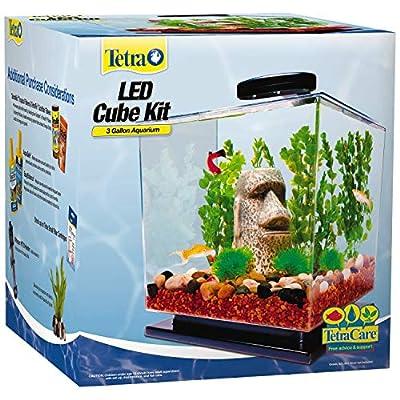 Tetra LED Cube Shaped 3 Gallon Aquarium with Pedestal Base