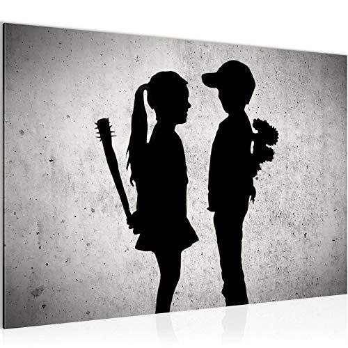 decoración de la mesa niño pared Banksy conoce a una chica -...