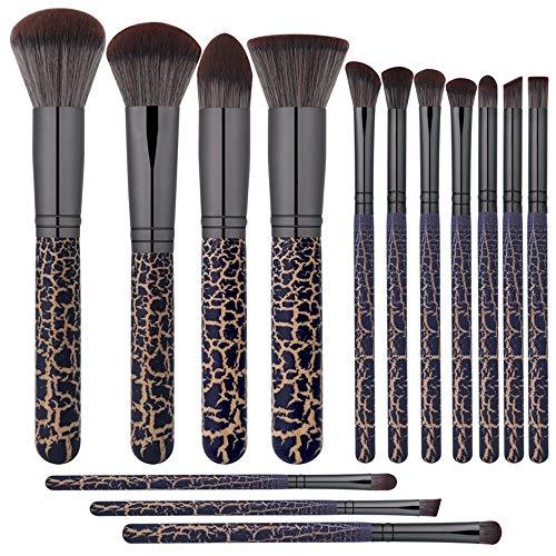 Pinceaux de maquillage femmes 14pcs pinceaux de maquillage kabuki de qualité supérieure avec étui for sac de maquillage de voyage coupé for les yeux, inclus Doux