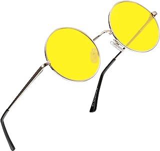 2c0d9c2401c FEIDU Retro Polarized Round Sunglasses for Men Vintage Sunglasses Women  FD3013