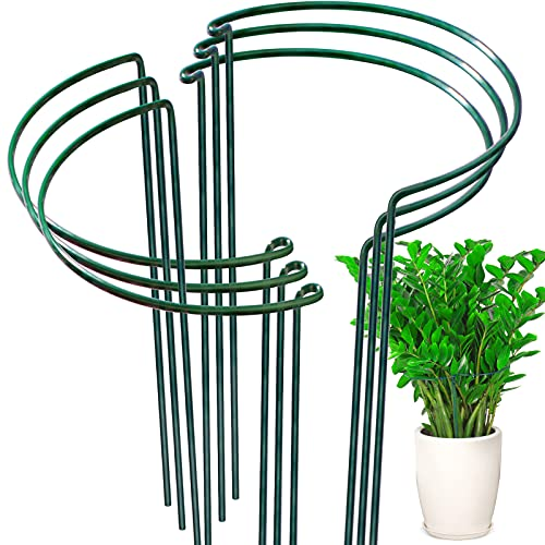 6 Pack Plant Support Plant Stakes, LEOBRO Metal Garden Plant Supports, Plant Cage, Plant Support...