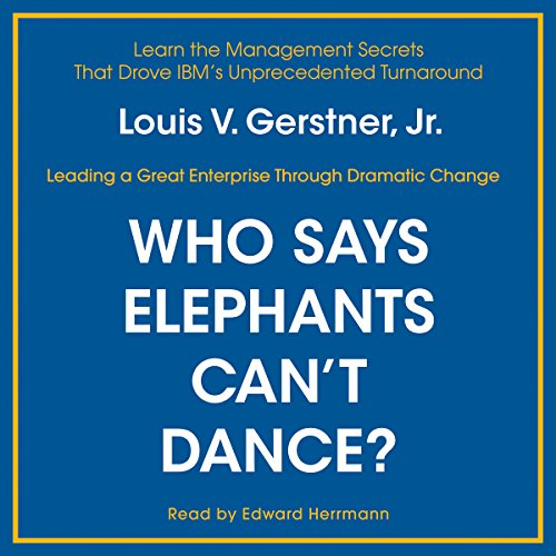 Couverture de Who Says Elephants Can't Dance?