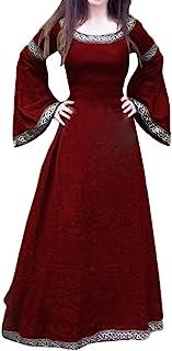 Modaworld carnevale Vestiti da Donna Medievale Renaissance Costume Maniche Lungo retrò Abito da Festa Donna Fancy Cosplay ...