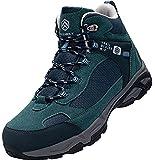 DURA-ANTISKID Botas de Seguridad Punta compuesta Hombre Zapatos de Seguridad SRC S1P Botas de Trabajo (Azul Verde,39EU)
