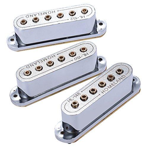 3pcs 48/50 / 52 millimetri passivo magnetico pickup doppia bobina foro sano per Fender ST Style chitarra elettrica