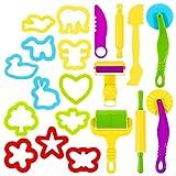 Delaspe - Kit de herramientas de pasta de modelar para niños